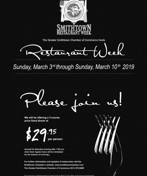 Smithtown Restaurant week 2019-1